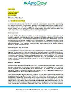 aerogrow hacked letter